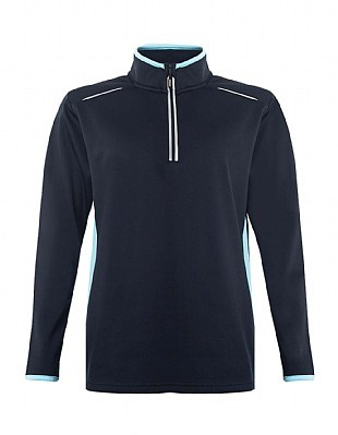 1/4 zip training top with initials & logo