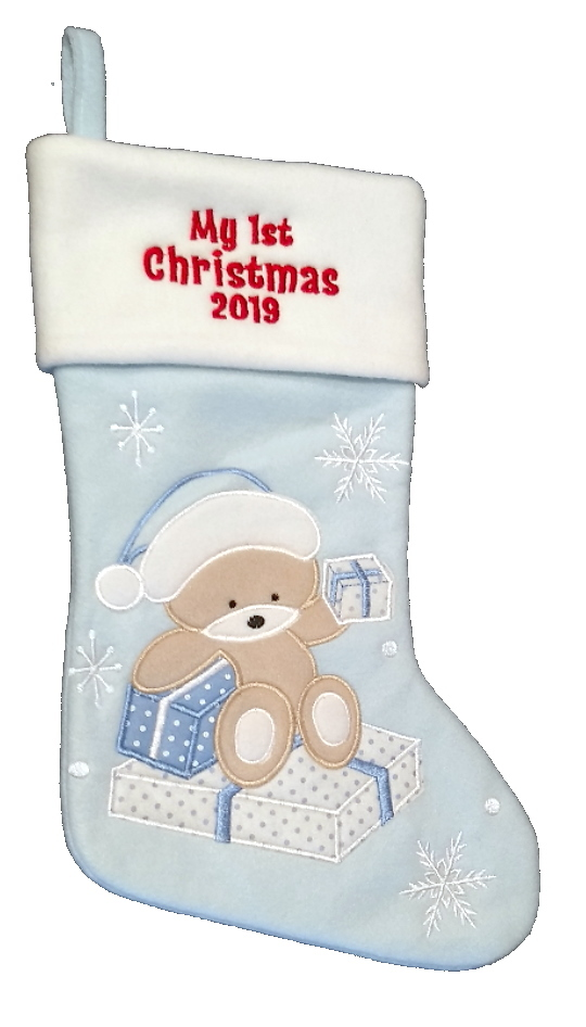 My first Christmas Stocking (Blue)