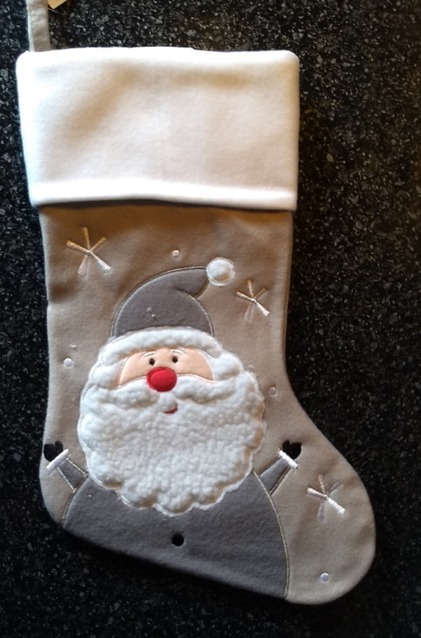 Christmas Stocking (grey Santa)